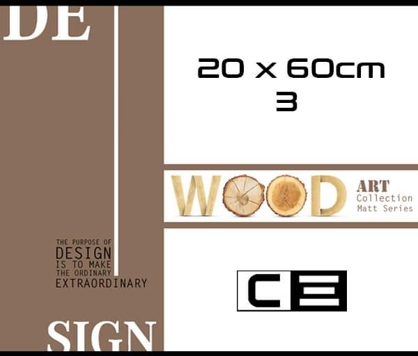 20 x 60 cm Wood Matt