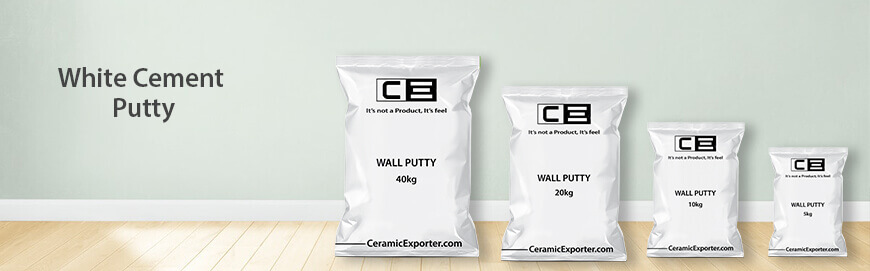 White Cement Based Wall Putty Exporter, Manufacturer and Supplier